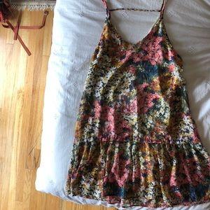 Lush Drop Waist Floral Dress